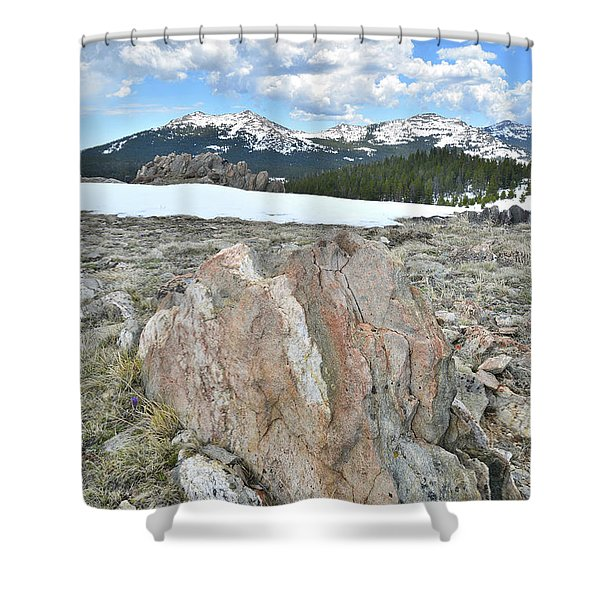 Big Horn Pass In Wyoming Shower Curtain