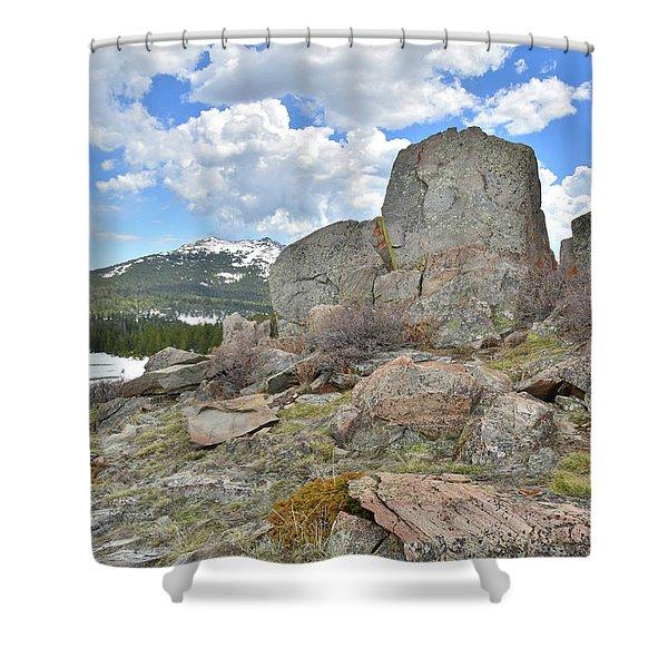 Big Horn Pass Rock Croppings Shower Curtain