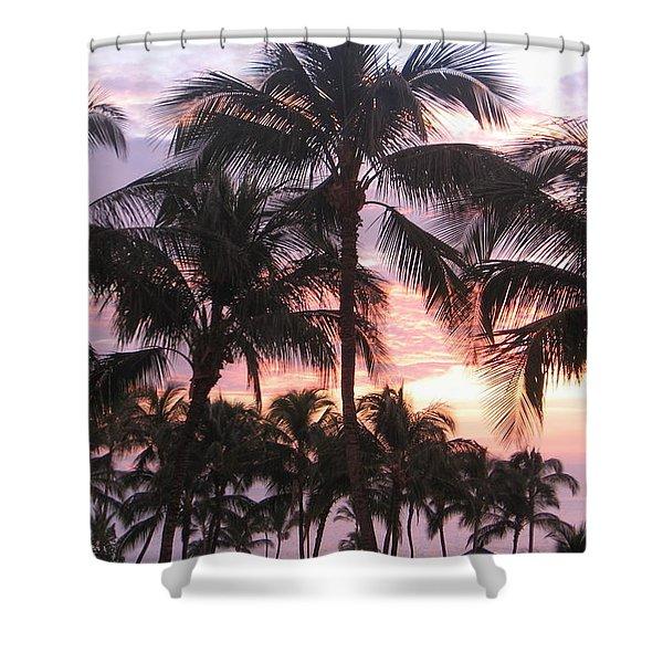 Big Island Sunset 3 Shower Curtain