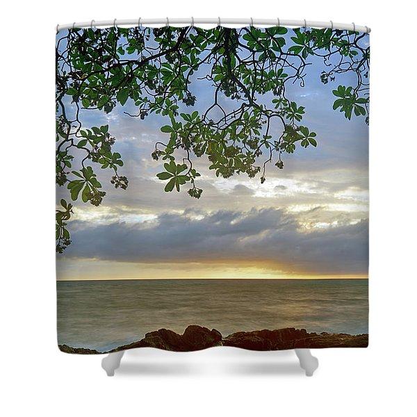 Big Island Sunset Shower Curtain