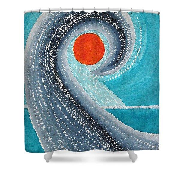 Big Kahuna Original Painting Shower Curtain