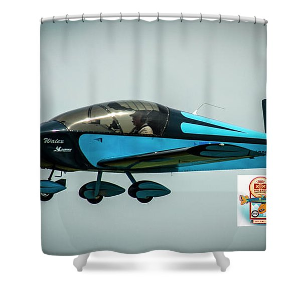 Big Muddy Air Race Number 100 Shower Curtain