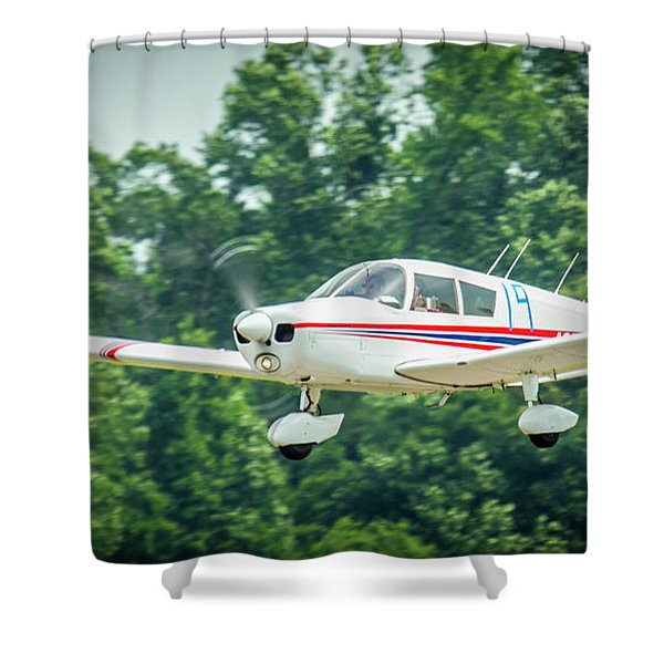 Big Muddy Air Race Number 19 Shower Curtain