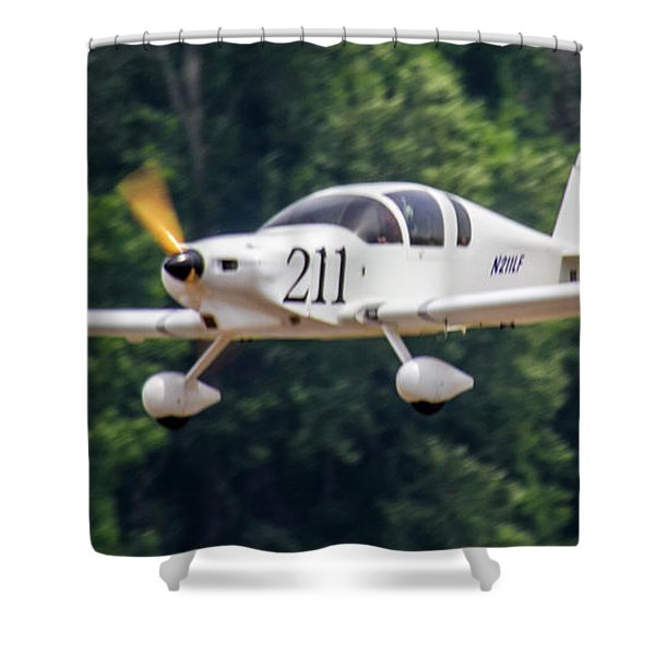 Big Muddy Air Race Number 390 Shower Curtain
