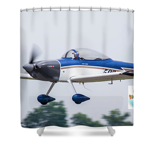Big Muddy Air Race Number 503 Shower Curtain