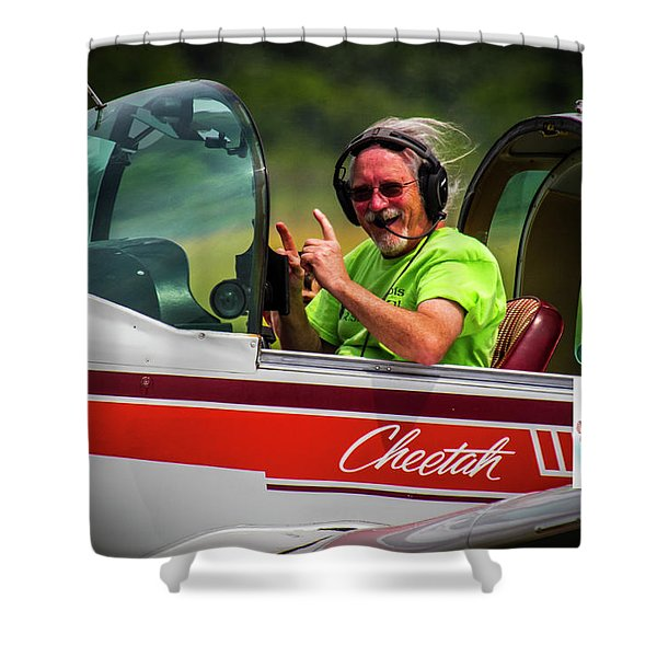 Big Muddy Air Race Number 73 Shower Curtain