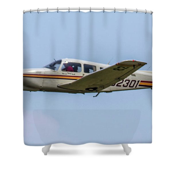Big Muddy Air Race Number 82 Shower Curtain
