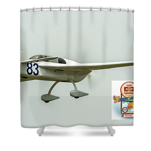 Big Muddy Air Race Number 83 Shower Curtain