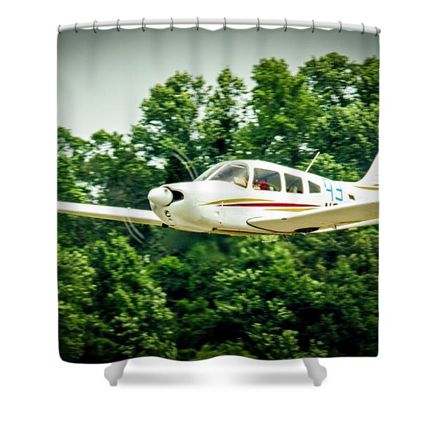 Big Muddy Air Race Number 93 Shower Curtain