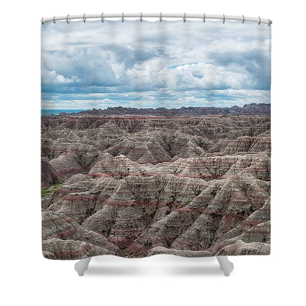 Big Overlook Badlands National Park  Shower Curtain