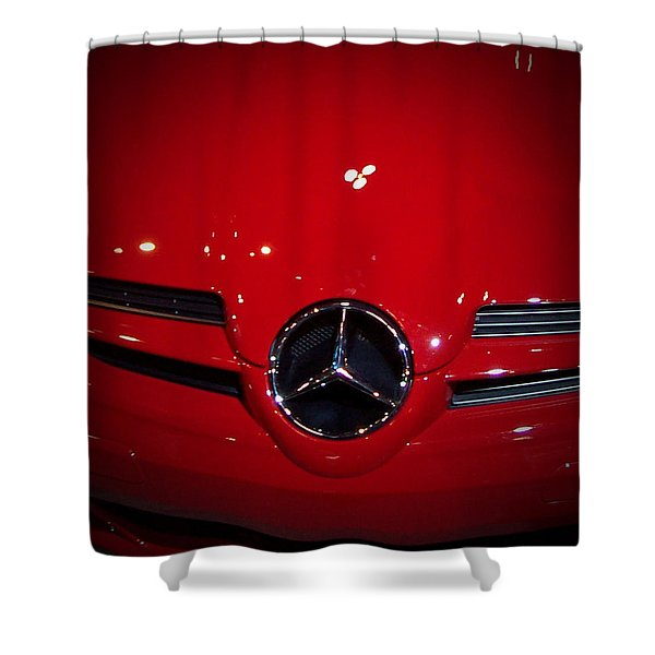 Big Red Smile - Mercedes-benz S L R Mclaren Shower Curtain