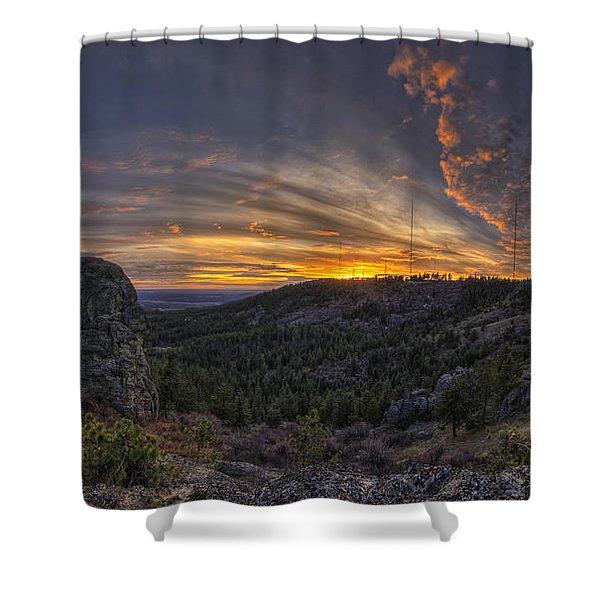 Big Rock Panorama Shower Curtain