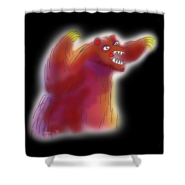 Big Scary Bear Shower Curtain