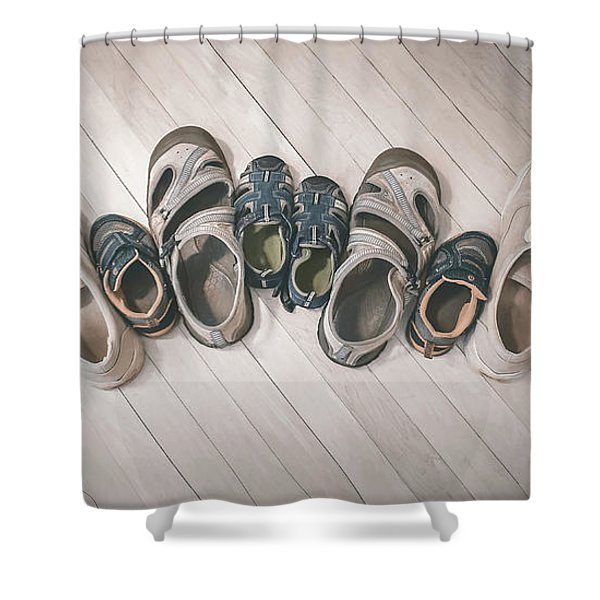 Big Shoes To Fill Shower Curtain