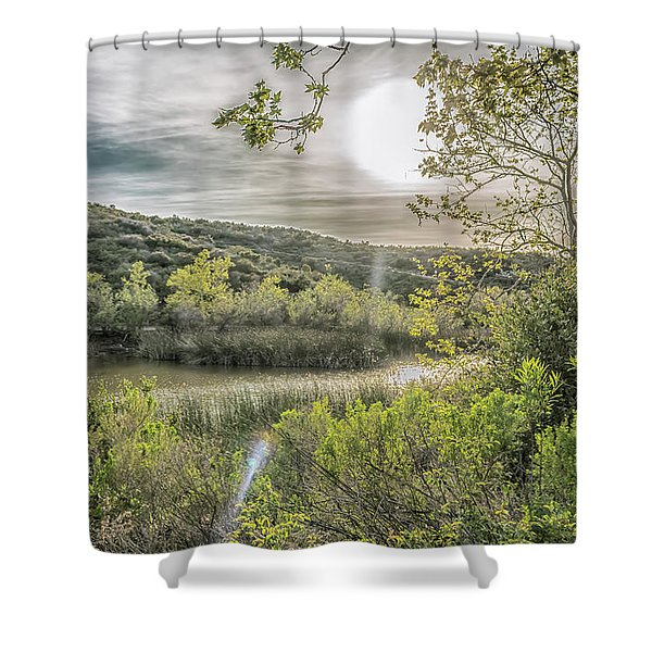 Big Sun Shower Curtain