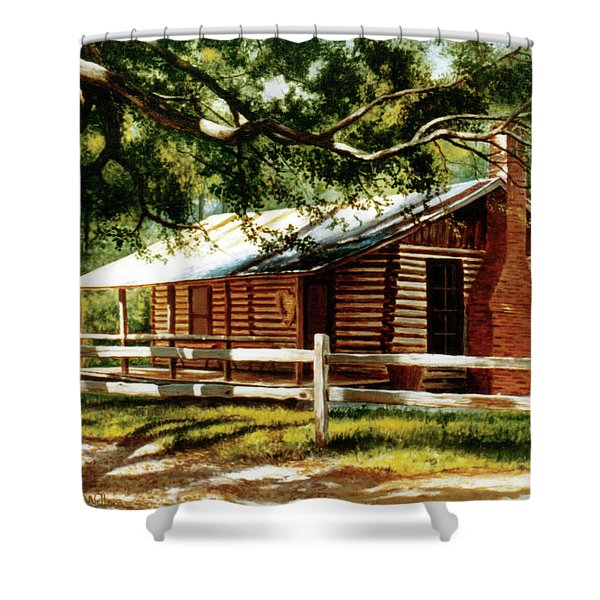 Big Thicket Information Center_the Staley Cabin Shower Curtain