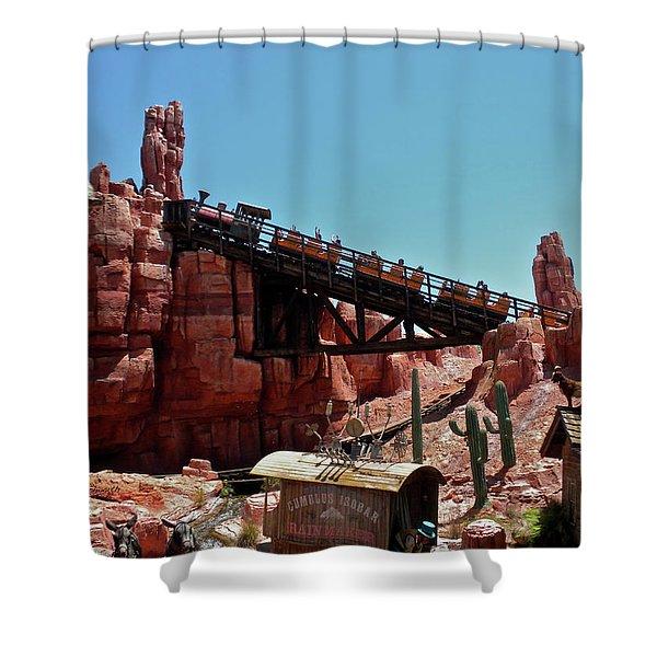 Big Thunder Mountain Walt Disney World Mp Shower Curtain