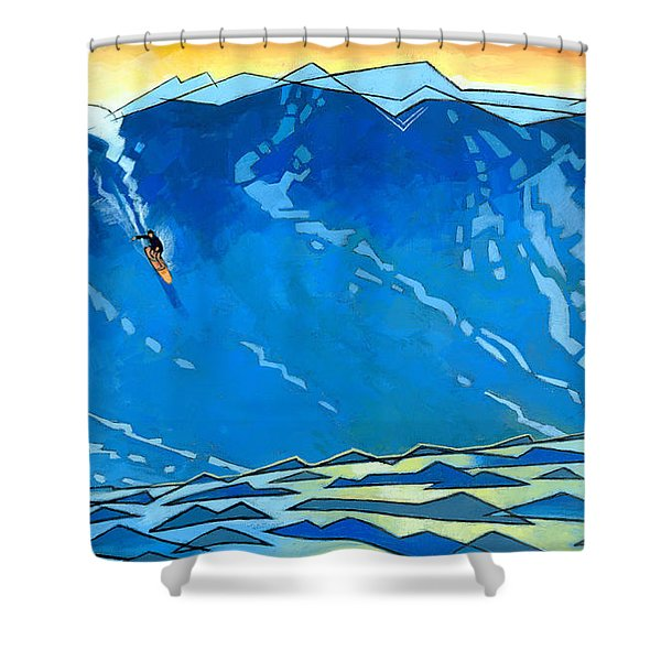 Big Wave Shower Curtain