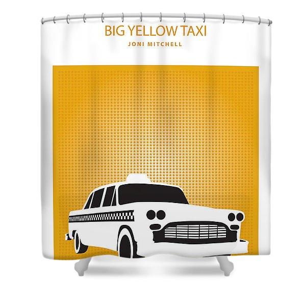 Big Yellow Taxi -- Joni Michel Shower Curtain