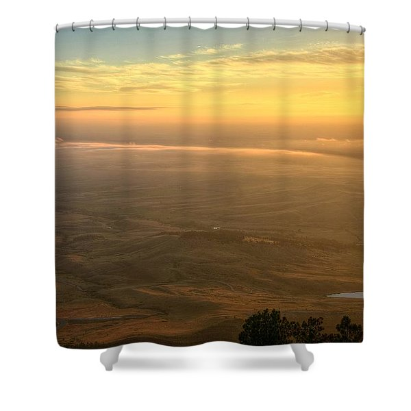 Bighorn Sunrise Shower Curtain