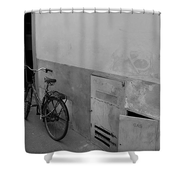 Bike In Alley Shower Curtain