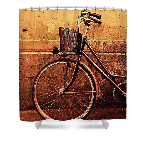 Bicycle At Rest, Paris  Shower Curtain