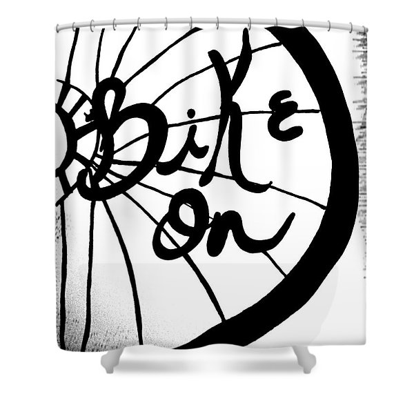 Bike On Shower Curtain