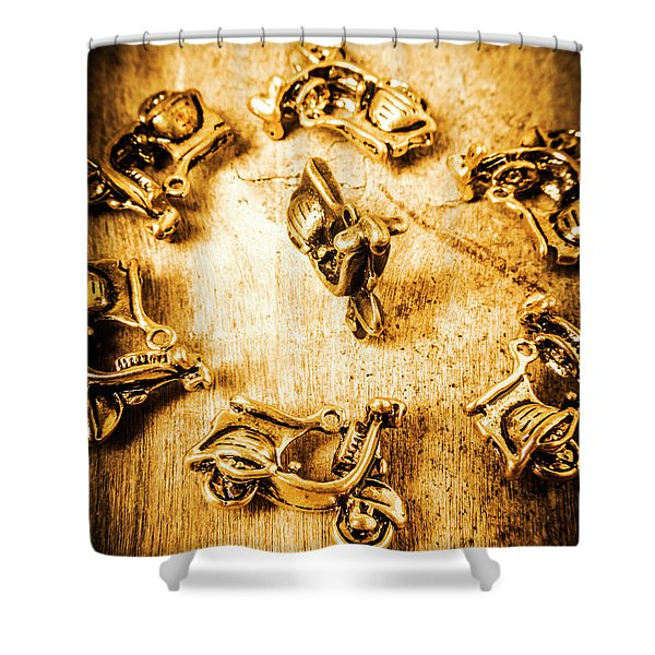 Bikes From Antique Italy Shower Curtain