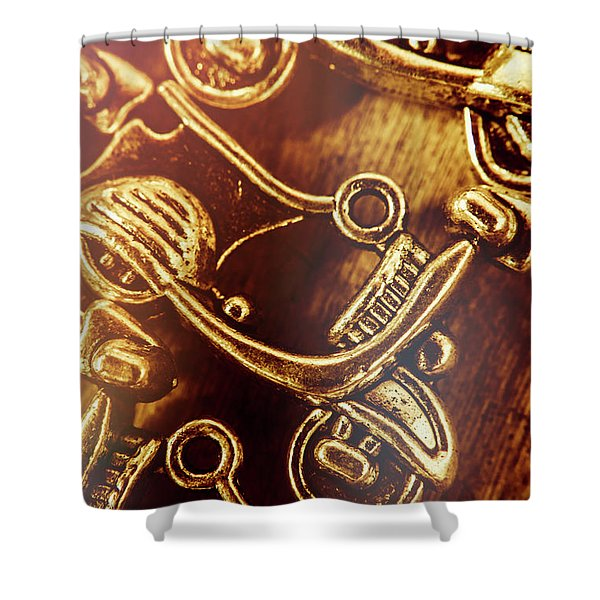 Biking Icons Shower Curtain