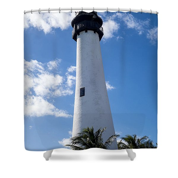 Bill Baggs Lighthouse Cape Florida State Park Palm Trees Shower Curtain
