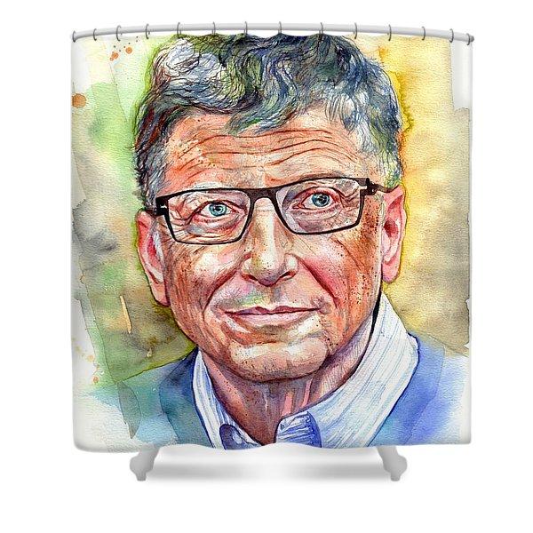 Bill Gates Portrait Shower Curtain