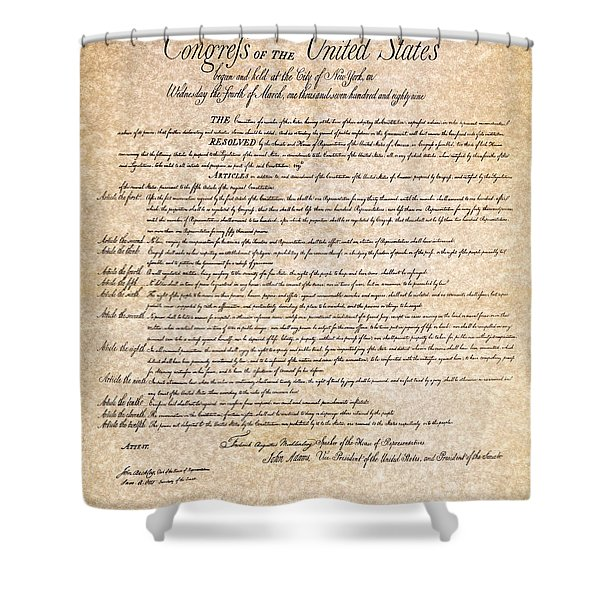 Bill Of Rights Shower Curtain