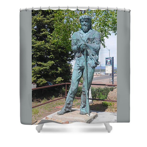 Bill Williams Statue Shower Curtain
