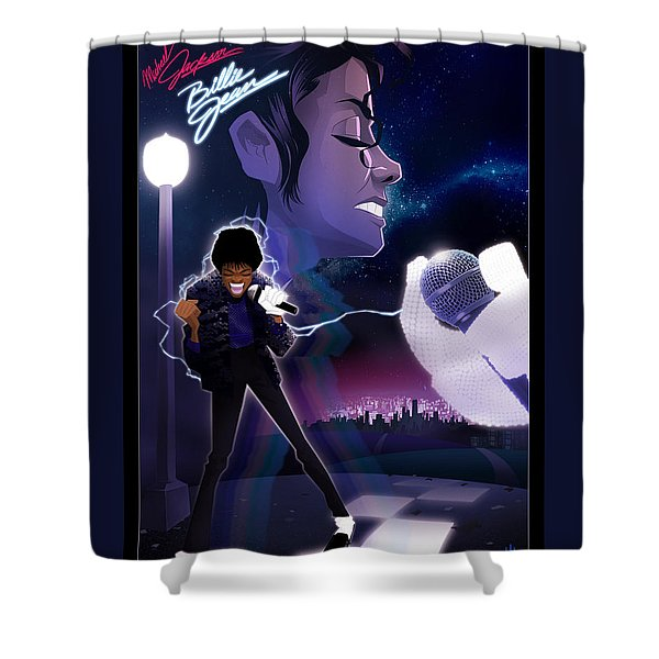 Shower Curtain featuring the digital art Billie Jean 2 by Nelson dedos Garcia