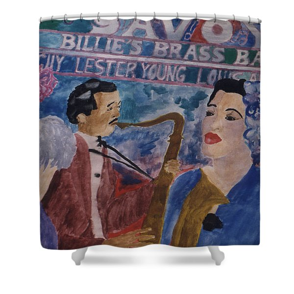 Billie's Brass Band Shower Curtain
