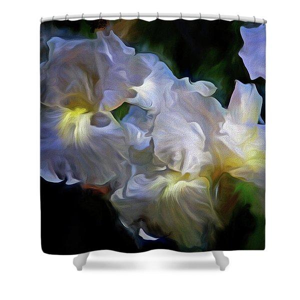 Billowing Irises Shower Curtain