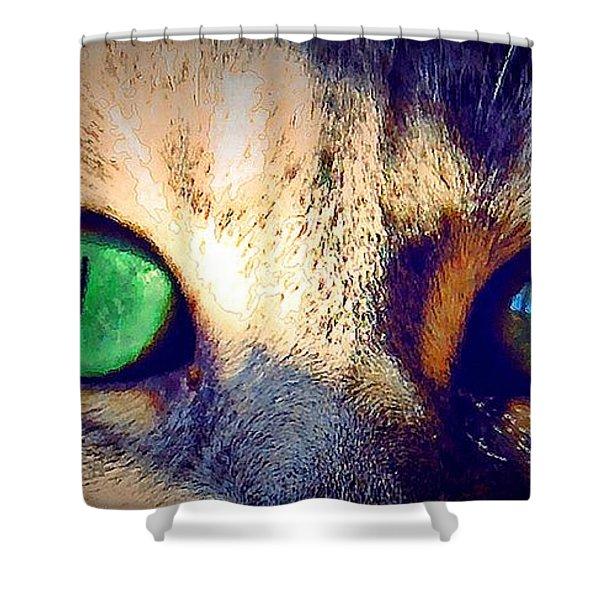 Bink Eyes Shower Curtain