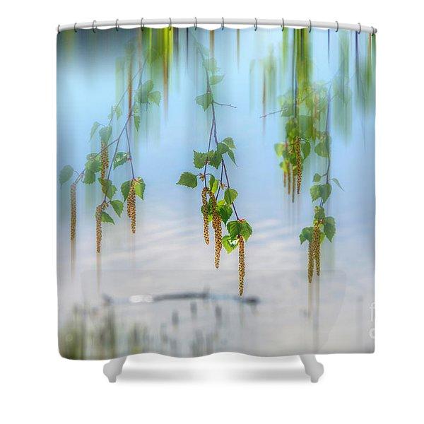 Birch Blossoms Shower Curtain
