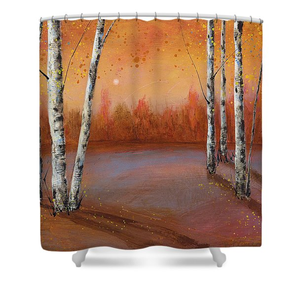 Birches In The Fall Shower Curtain