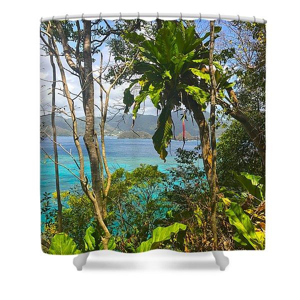 Bird Island Little Tobago  Shower Curtain