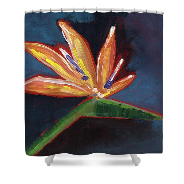 Bird Of Paradise- Art By Linda Woods Shower Curtain