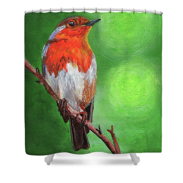 Bird On A Branch Shower Curtain