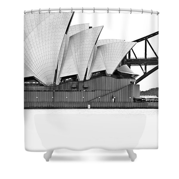 Bird On The Harbour Shower Curtain