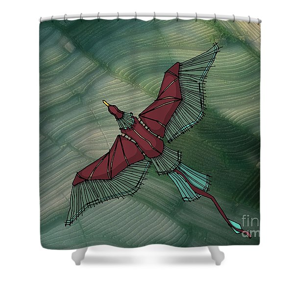 birdEYE volcano III Shower Curtain