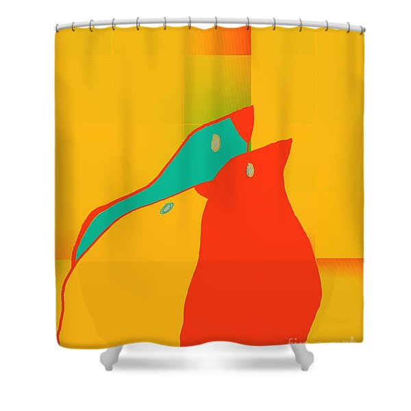 Birdies - P01p2t6 Shower Curtain
