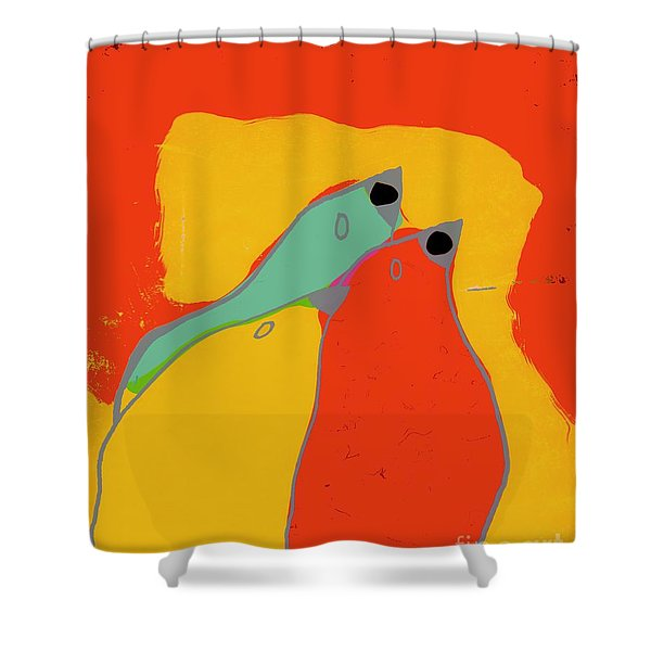 Birdies - Q11a Shower Curtain