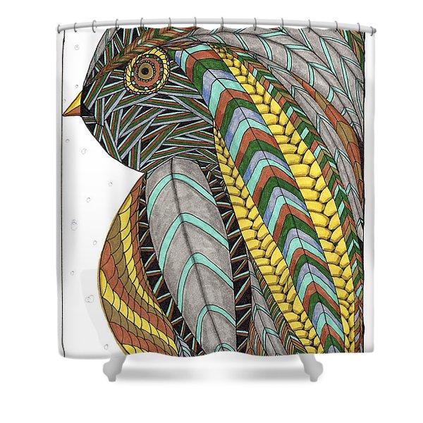 Bird_inquisitive_s007 Shower Curtain