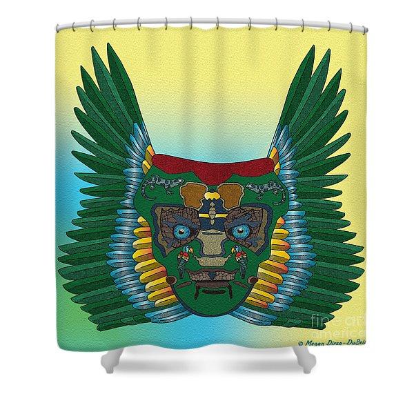 Birdman Mask Shower Curtain
