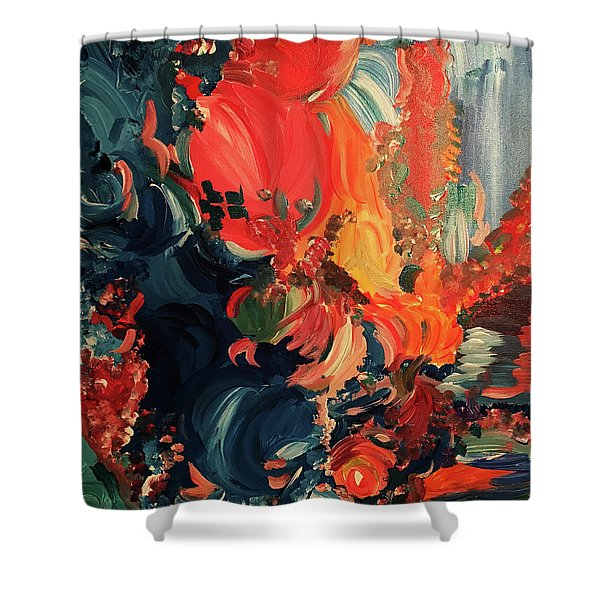 Birds And Creatures Of Paradise Shower Curtain