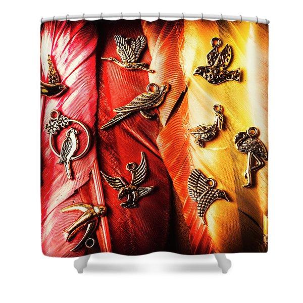 Birds Of A Decor Feather Shower Curtain